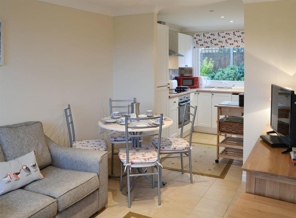 Open plan living space at Crock of Gold in Bacton, Norfolk