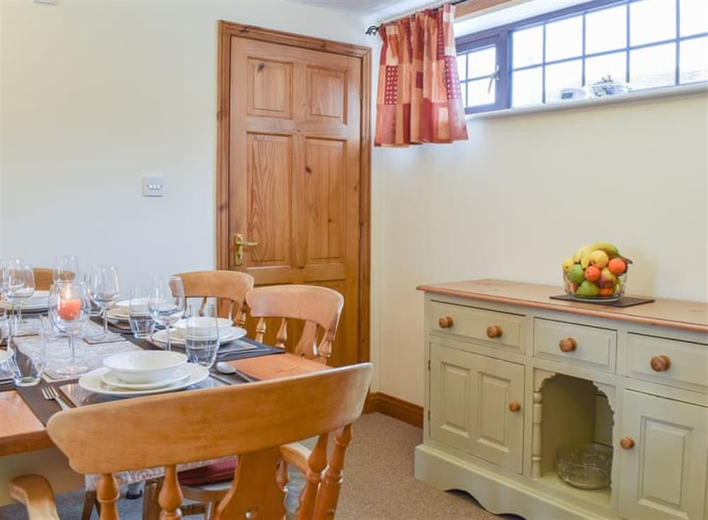 Beautifully furnished and decorated dining area at Croft Cottage in Lydlinch, near Sturminster Newton, Dorset