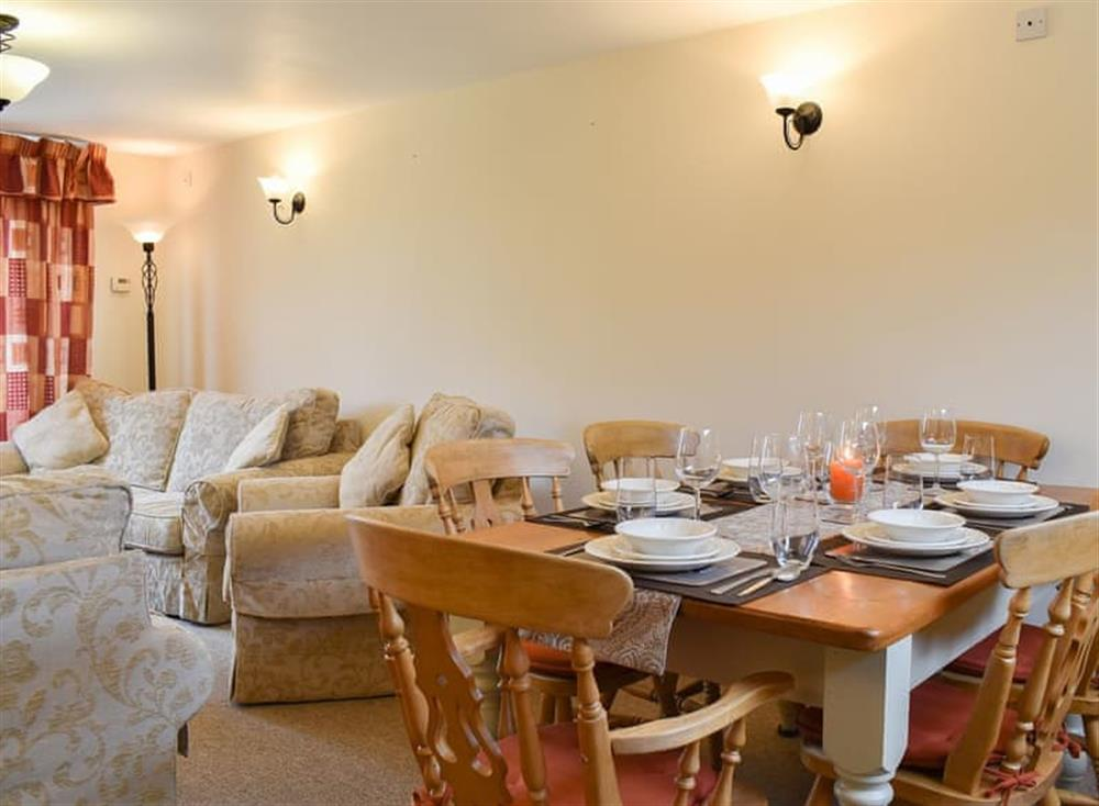 Living and dining areas at Croft Cottage in Lydlinch, near Sturminster Newton, Dorset