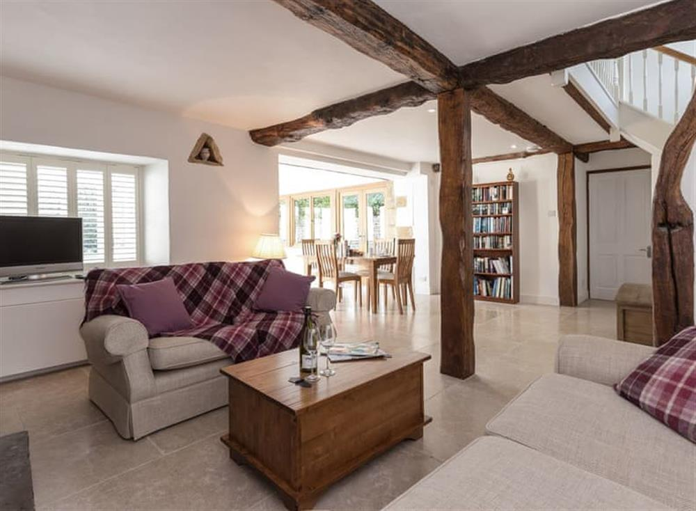 Wonderful, open plan living space at Crofters Barn in Nether Westcote, near Stow-on-the-Wold, Gloucestershire