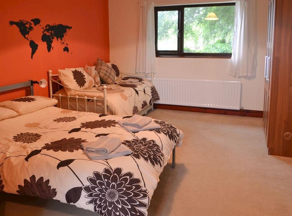 Double bedroom at Croftmere in Cresswell, near Morpeth, Northumberland