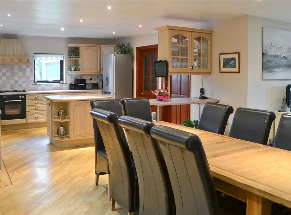 Kitchen with dining area at Croftmere in Cresswell, near Morpeth, Northumberland