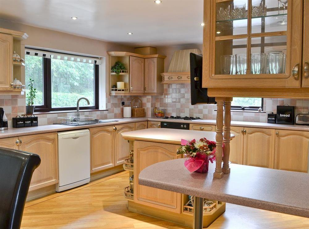 Kitchen at Croftmere in Cresswell, near Morpeth, Northumberland