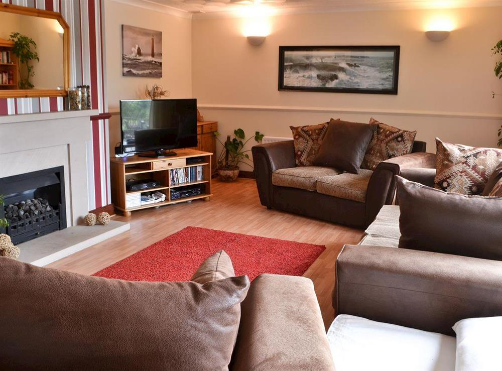 Living room at Croftmere in Cresswell, near Morpeth, Northumberland