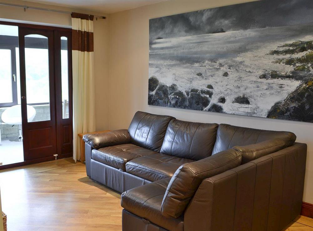 Lounge area at Croftmere in Cresswell, near Morpeth, Northumberland