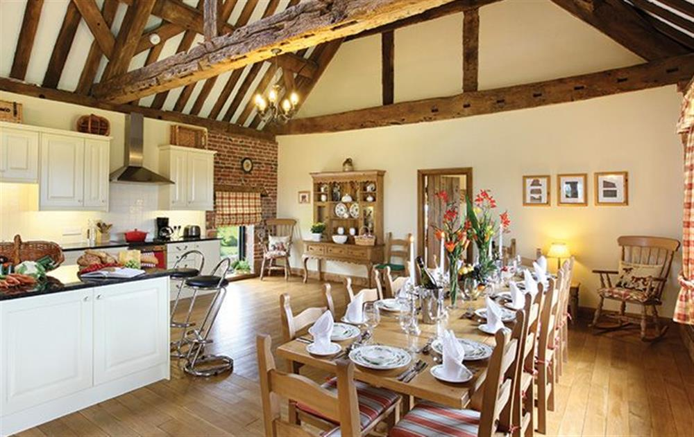 First floor:  Open plan kitchen and dining room  at Cromwells Manor, near Nantwich