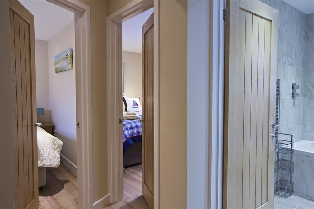 Access to bedrooms and bathroom from hallway at Crowthers in , Dartmouth