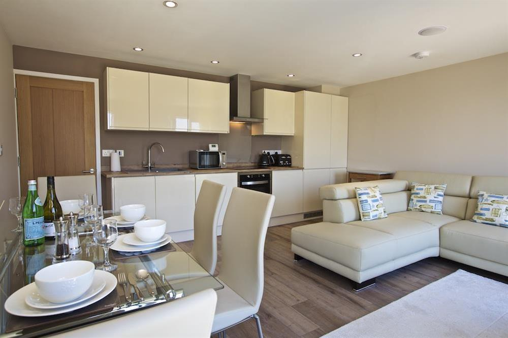 The bright and sunny open-plan living area at Crowthers in , Dartmouth