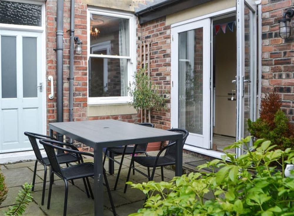 Outdoor area at Cuthbert Cottage in Tynemouth, near Whitley Bay, Tyne and Wear