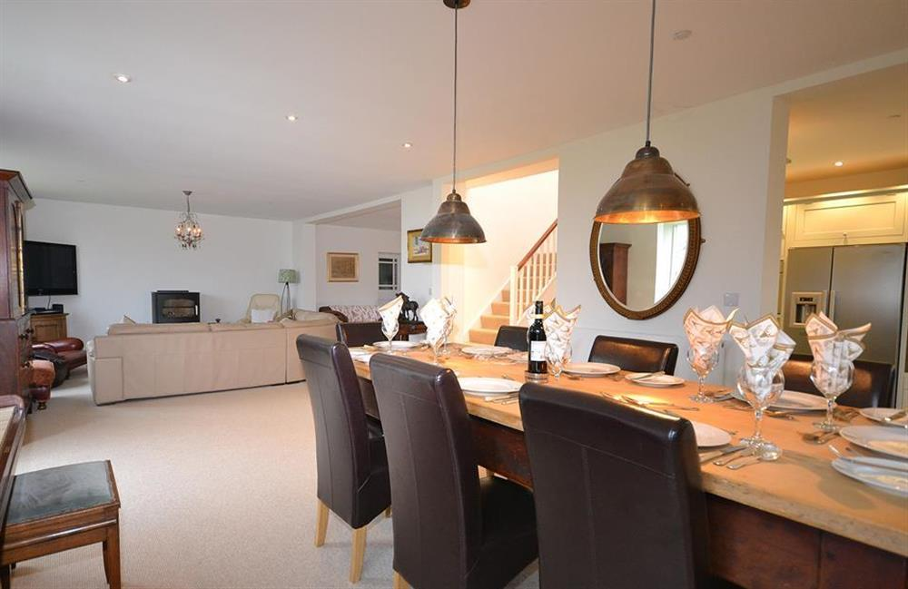 A view of the dining area looking towards the seating area at Cuttery House, East Allington