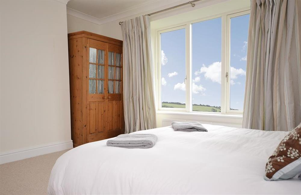 Another view of bedroom 3 with great countryside views at Cuttery House, East Allington