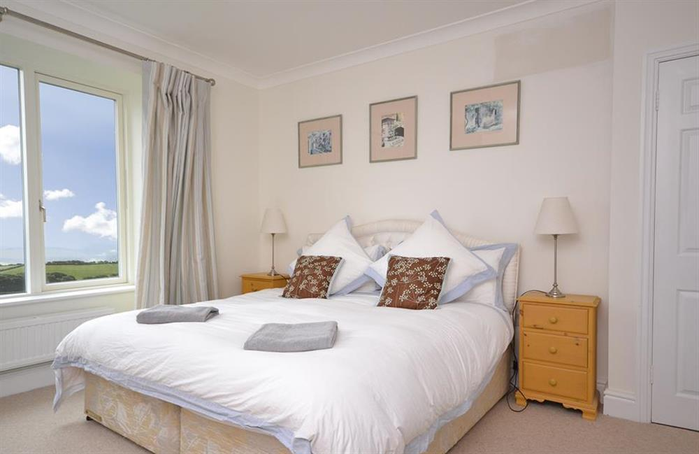 Bedroom 3 with super king size bed at Cuttery House, East Allington