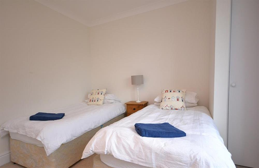 Bedroom 4 with twin beds at Cuttery House, East Allington