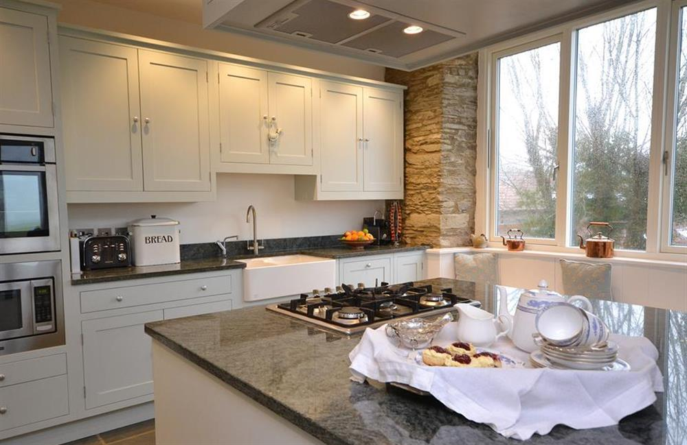 The kitchen island unit at Cuttery House, East Allington