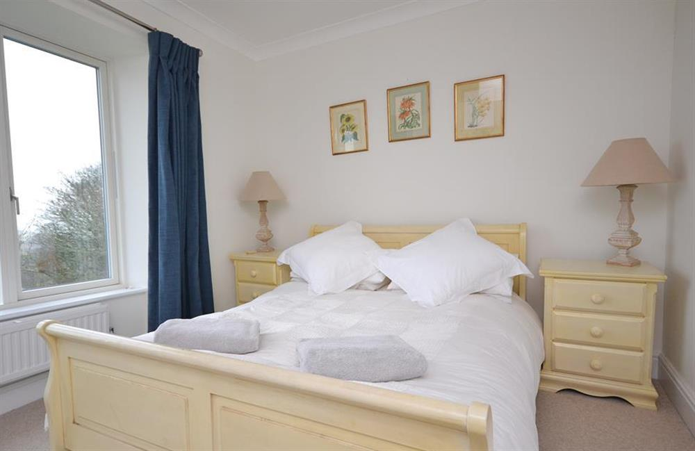 The master bedroom  at Cuttery House, East Allington