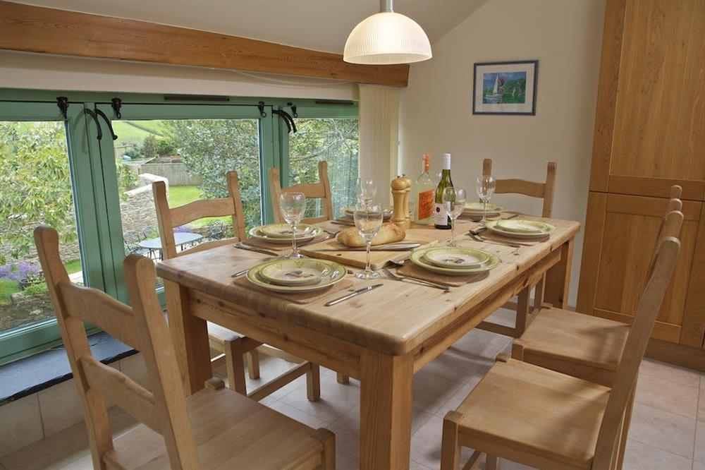 Enjoy dinner overlooking the garden at Daisy in Blackawton, Dartmouth