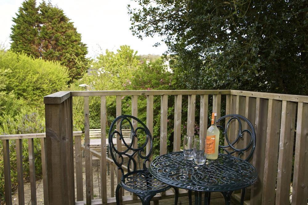 Enjoy the morning sun on the upper terrace at Daisy in Blackawton, Dartmouth