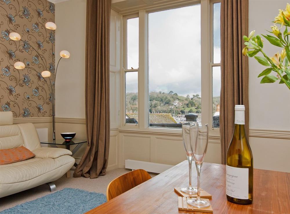 Sitting room at Dart View, Apartment 1 in Dartmouth, Devon