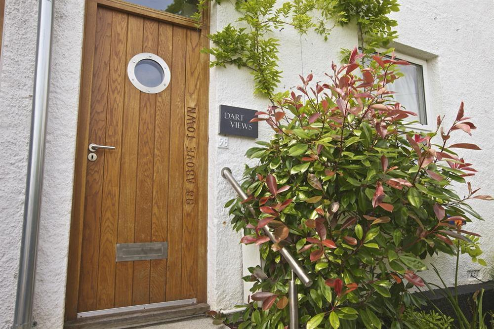 Entrance and front door at Dart Views in 98 Above Town, Dartmouth