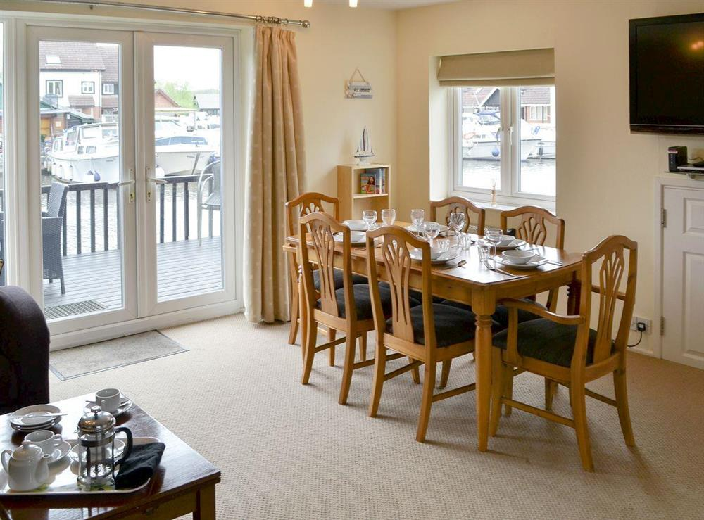 Charming dining area at Davids Island in Wroxham, Norfolk