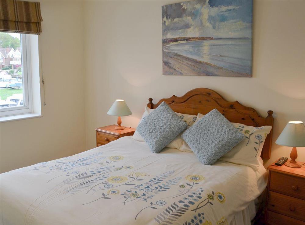 Comfortable double bedroom at Davids Island in Wroxham, Norfolk