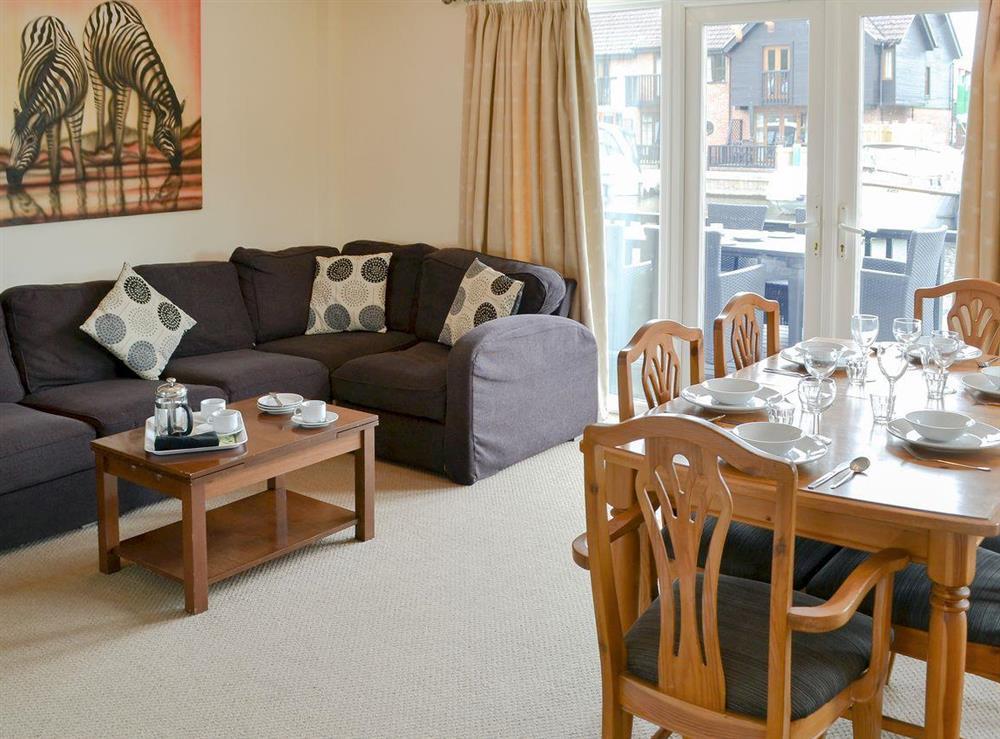 Comfortable open plan living space at Davids Island in Wroxham, Norfolk