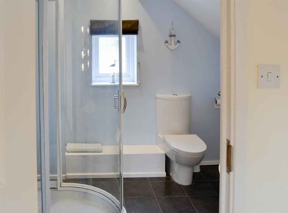 En-suite shower room at Davids Island in Wroxham, Norfolk