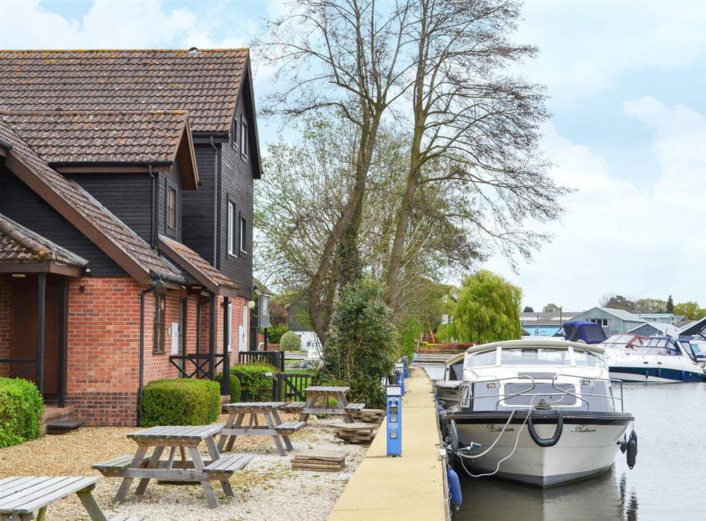End of terrace property is part of the Peninsula Cottages Development at Davids Island in Wroxham, Norfolk
