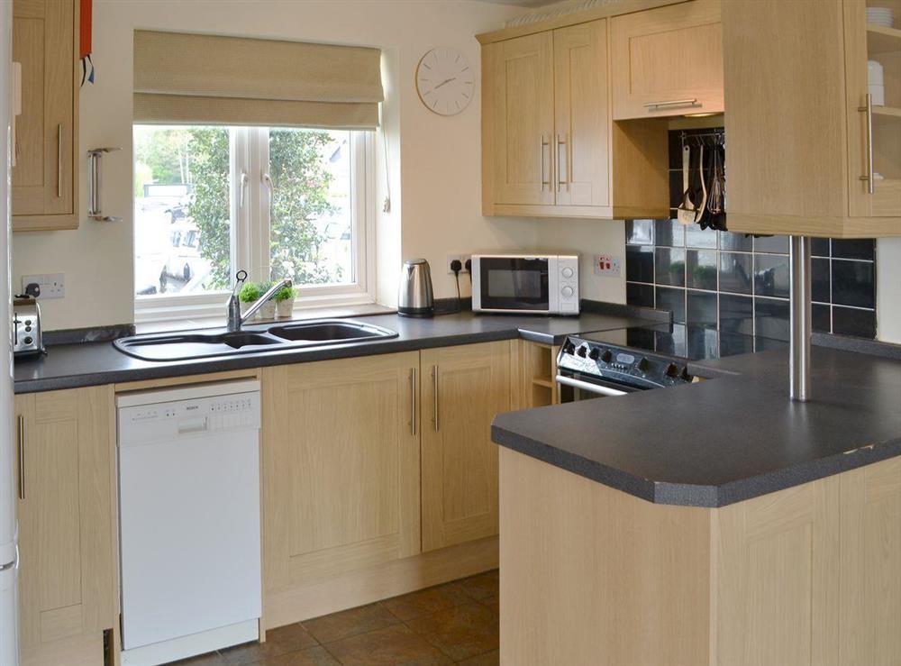 Well equipped kitchen at Davids Island in Wroxham, Norfolk