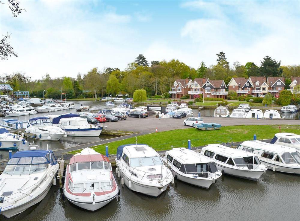 Wonderful views of the water side at Davids Island in Wroxham, Norfolk
