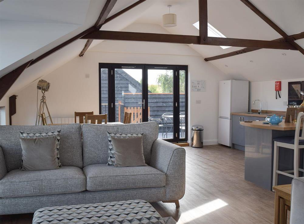Open plan living space at Derbys Loft in Beccles, near Gillingham, Norfolk