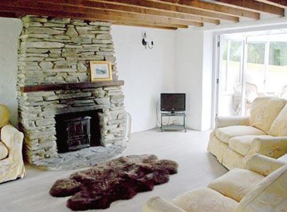 Living room at Deri in Llangoedmor, Nr Cardigan, Dyfed., Great Britain