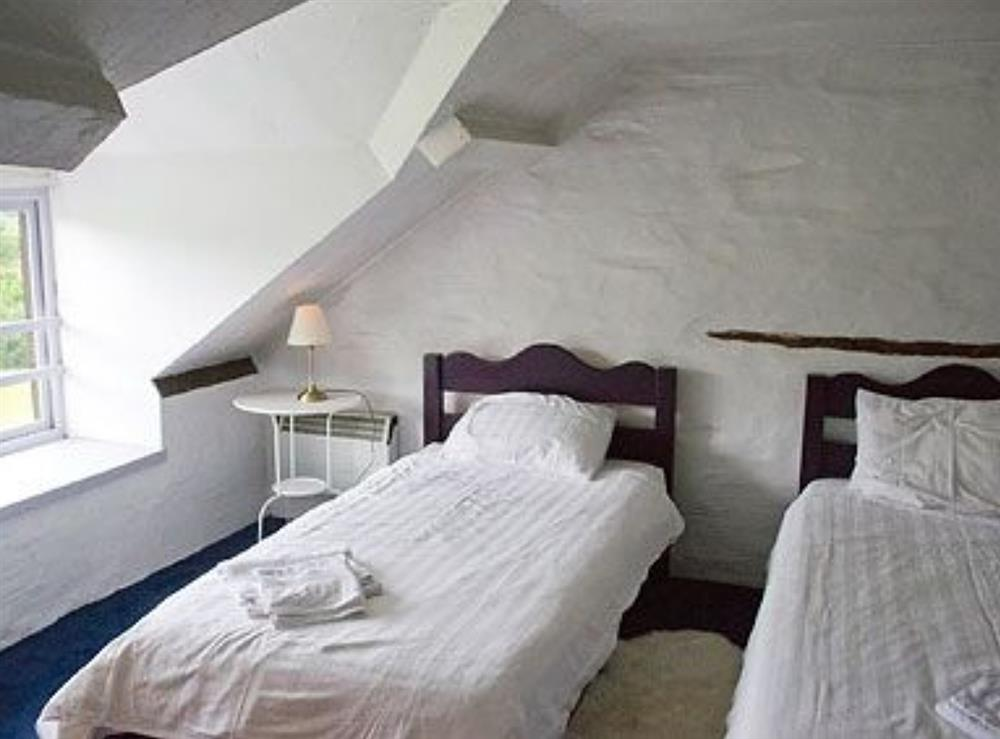 Twin bedroom at Deri in Llangoedmor, Nr Cardigan, Dyfed., Great Britain