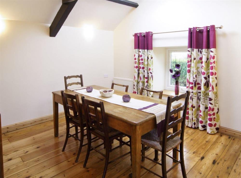 Dining room at Deuglawdd Cottage in Aberdaron, near Pwllheli, Gwynedd