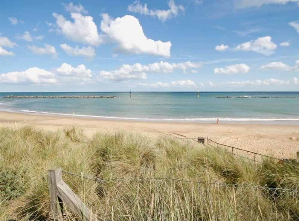 Beach at Dormouse Cottage in Sea Palling, Norfolk