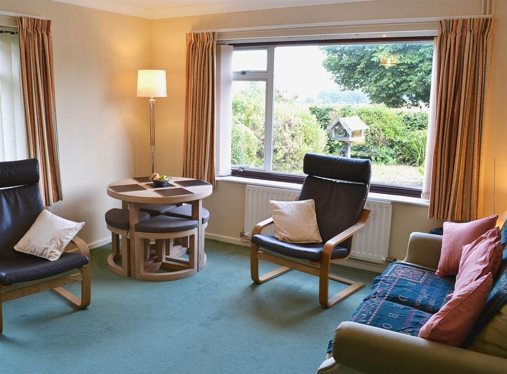 Living room at Dots Place in North Walsham, Norfolk