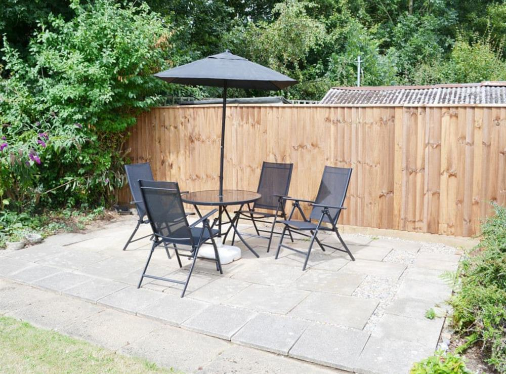 Sitting-out-area at Dots Place in North Walsham, Norfolk