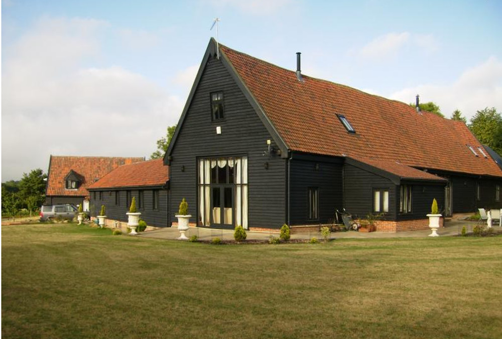 The garden at Doves Barn in Badley, near Needham Market, Suffolk