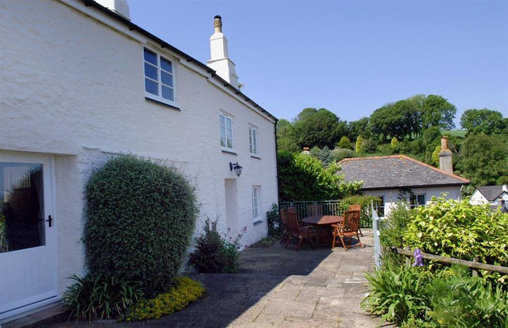 Dower House and its front terrace - perfect for al fresco dining at Dower House, Dittisham