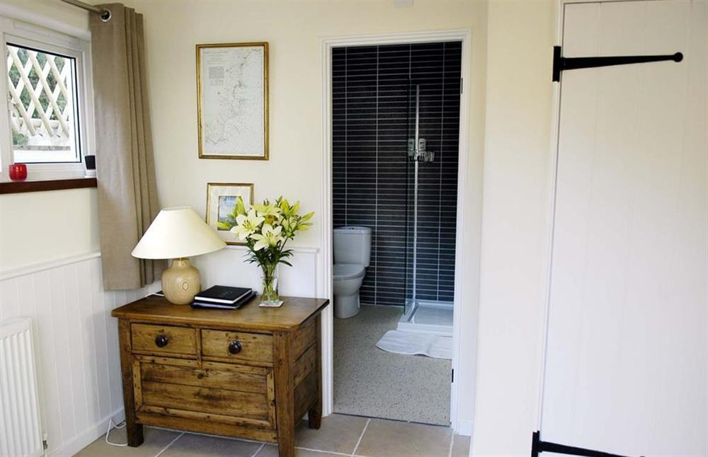 The hallway showing the shower room at Dower House, Dittisham