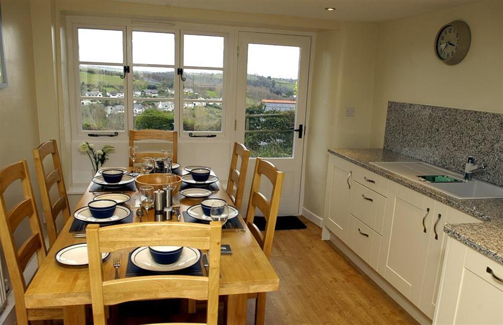 The kitchen also boasts a dining table at Dower House, Dittisham