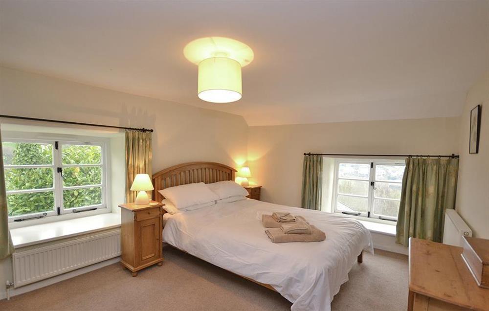 The luxury master bedroom at Dower House, Dittisham