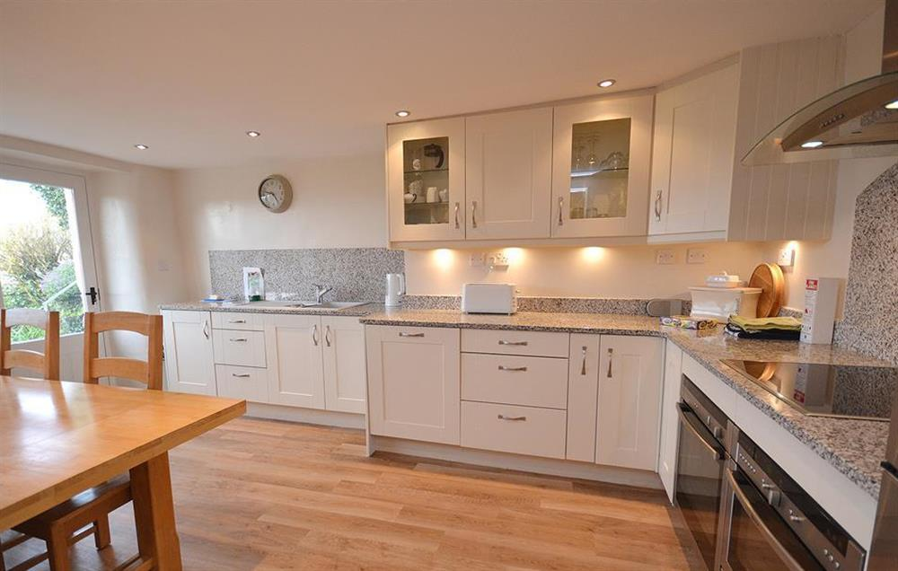 The modern and well equipped kitchen at Dower House, Dittisham