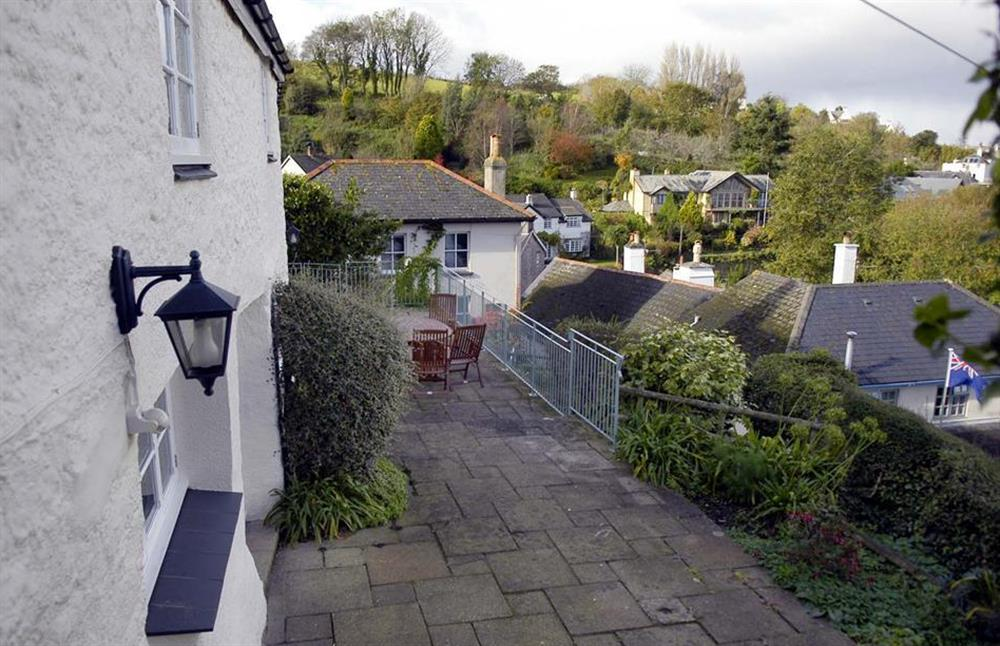 The terrace at Dower House, Dittisham