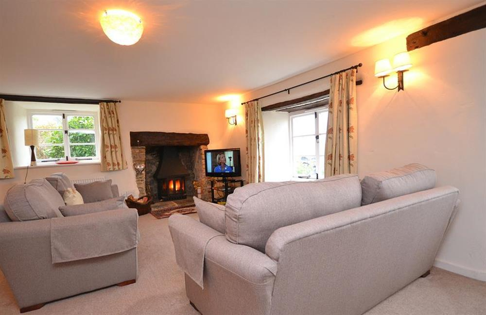 The warm and comfortable drawing room at Dower House, Dittisham