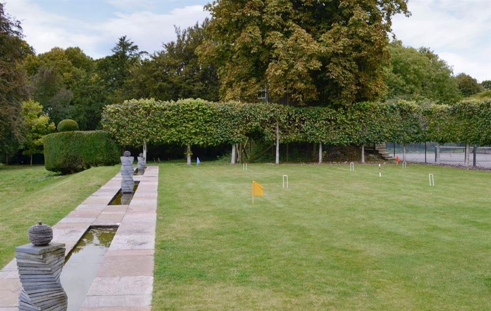 Enjoy a game of croquet on the lawn