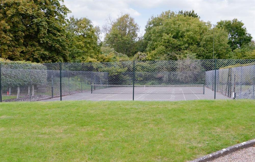 Private tennis court for guest's use