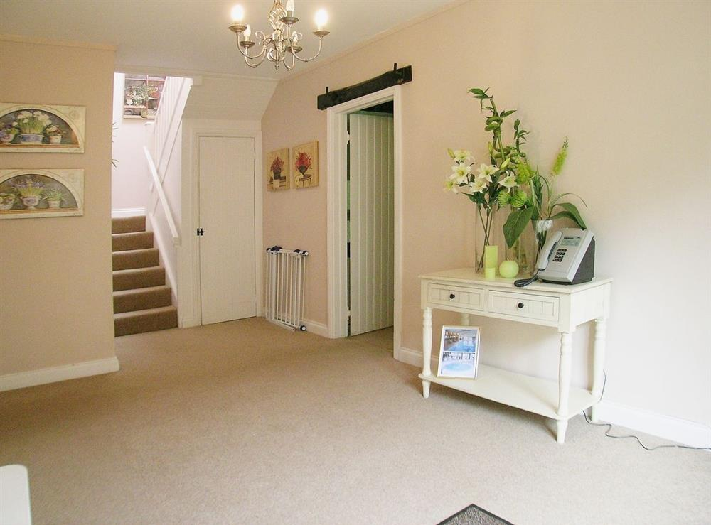 Hallway at Dray Cottage in East Allington, Nr. Totnes, Devon., Great Britain