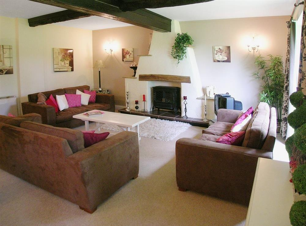 Living room at Dray Cottage in East Allington, Nr. Totnes, Devon., Great Britain