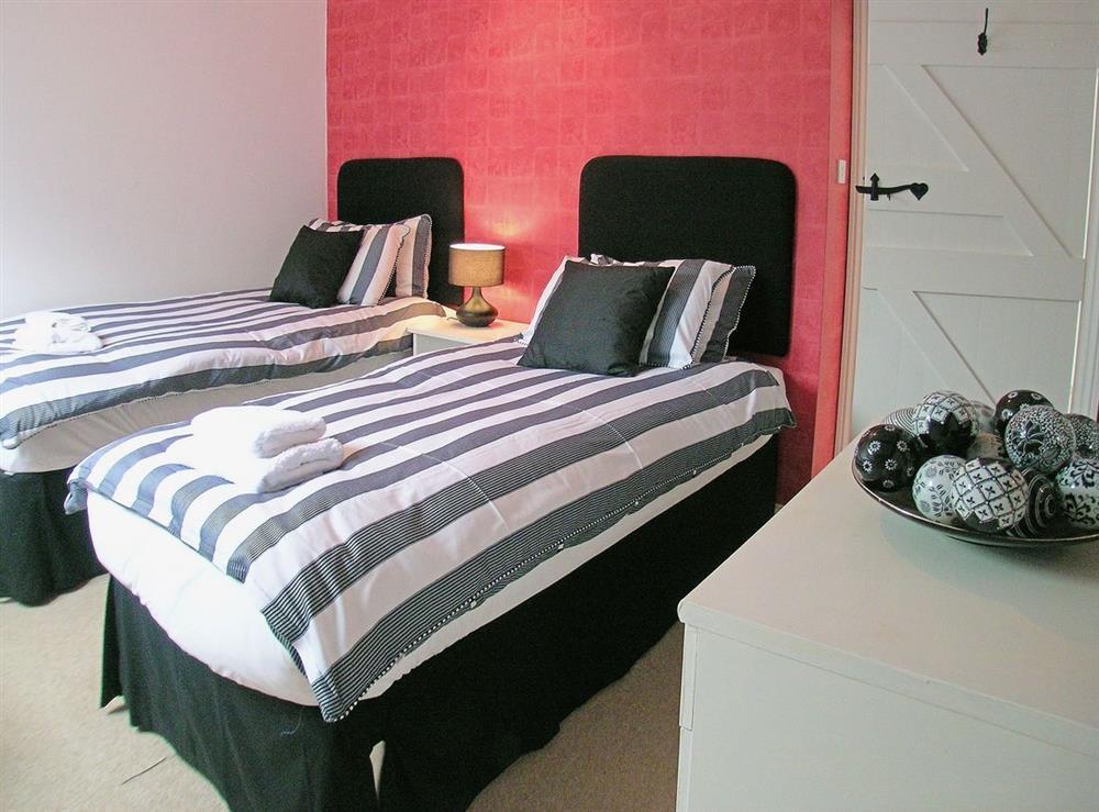Twin bedroom at Dray Cottage in East Allington, Nr. Totnes, Devon., Great Britain